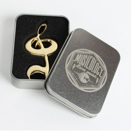 Golden Treble Clef Bottle Opener - Music Themed Gift and Table Favor